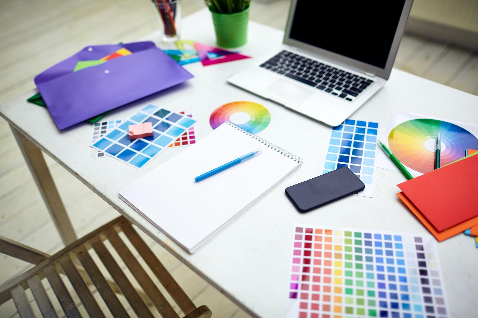 Workplace of designer